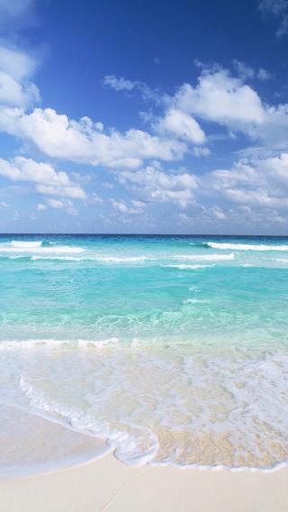 碧海蓝天 白云 沙滩