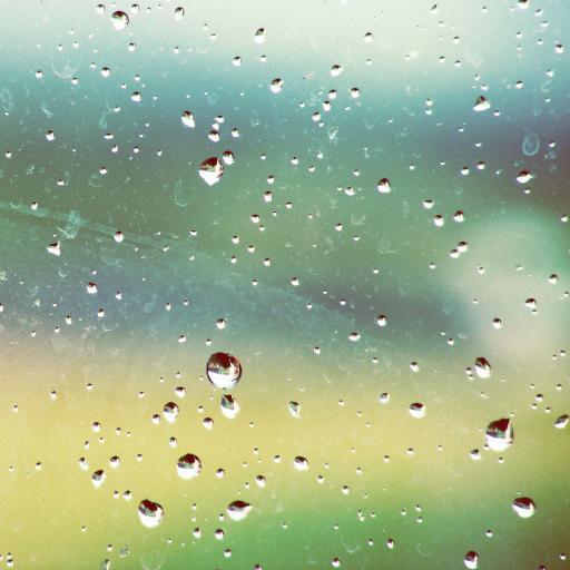 水滴 玻璃 雨天 彩色