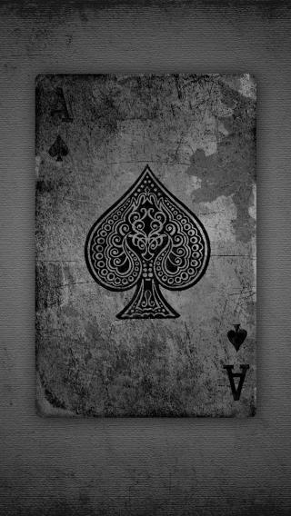 扑克牌 黑桃A 黑白