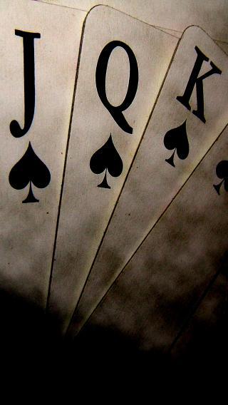 扑克牌 JQK 黑白