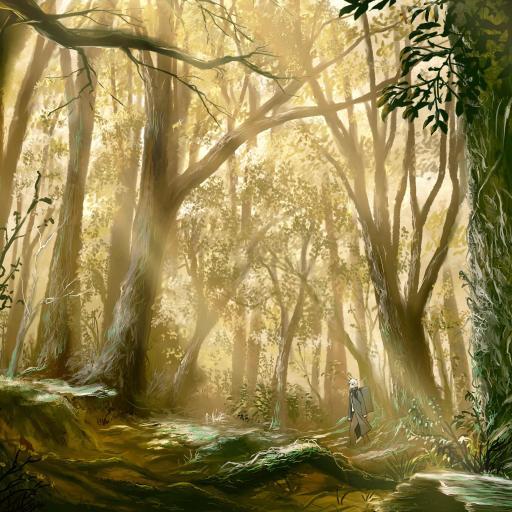 动漫 丛林场景