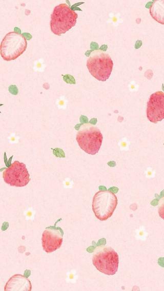 草莓 平铺 粉