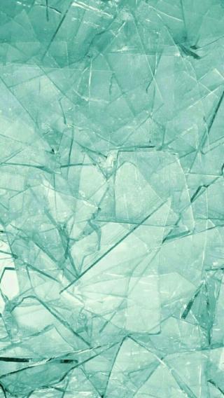 碎 玻璃 蓝色 堆叠