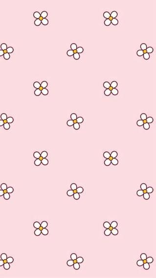 粉色背景 满铺小花花
