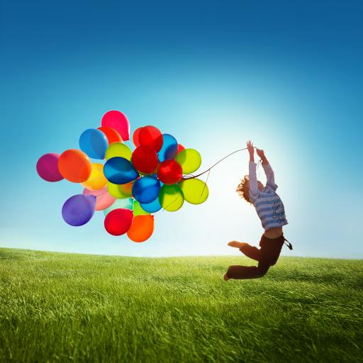 气球 彩色 天空