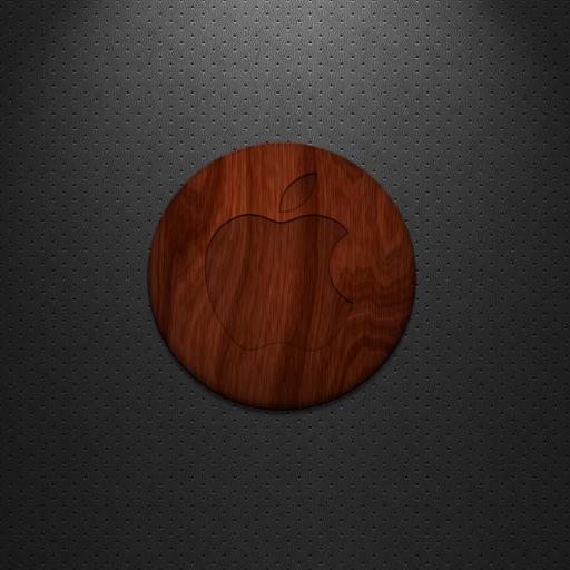 苹果 Logo 木板