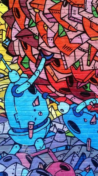 彩色 涂鸦 手绘墙