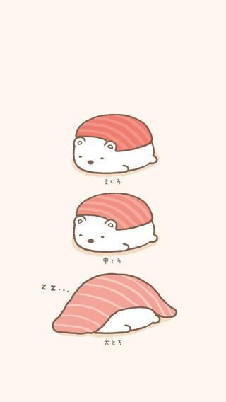 创意 卡通 寿司 插画