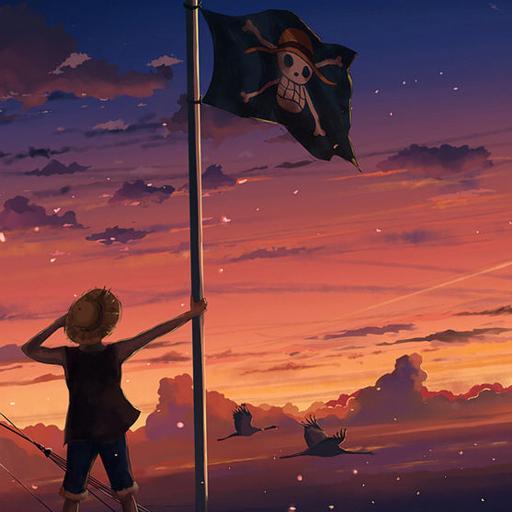 海贼王 路飞 旗帜