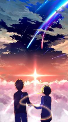 你的名字 唯美 星空