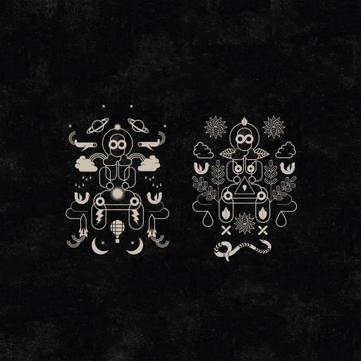 黑色插画 艺术画 抽象
