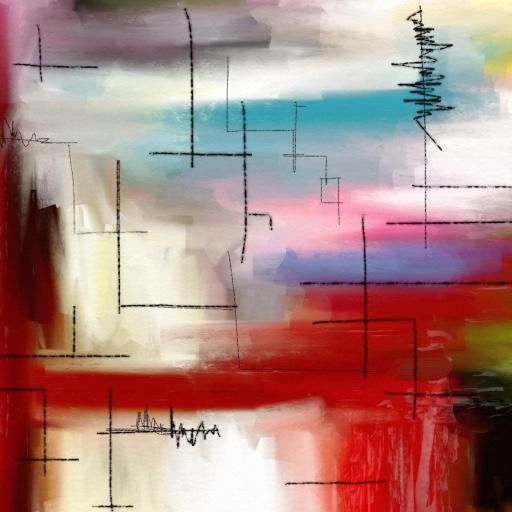 抽象 色彩手绘
