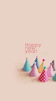 happy new year 帽子 新年
