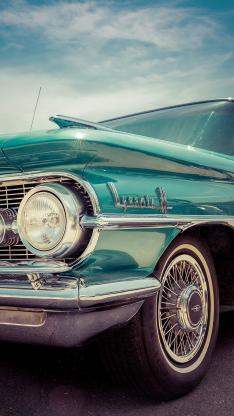 复古 汽车 薄荷绿 金属