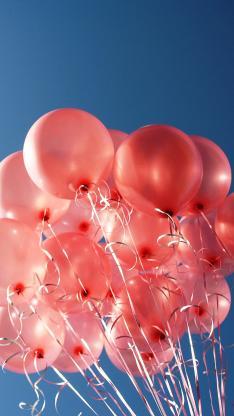 红色气球 蓝色