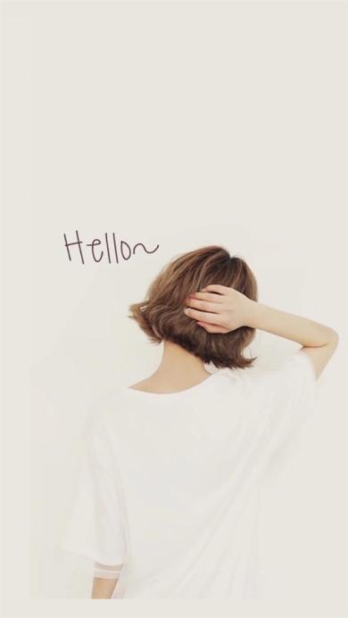 Hello 短发 背影 女孩
