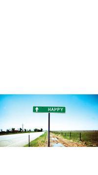 Happy 路标 道路