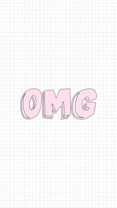 OMG 字母 粉色