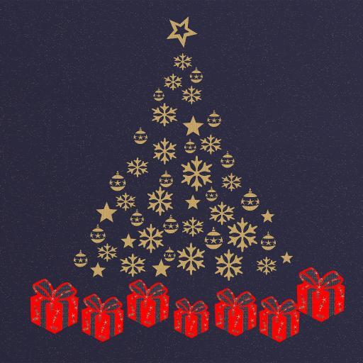 圣诞树 礼物 雪花