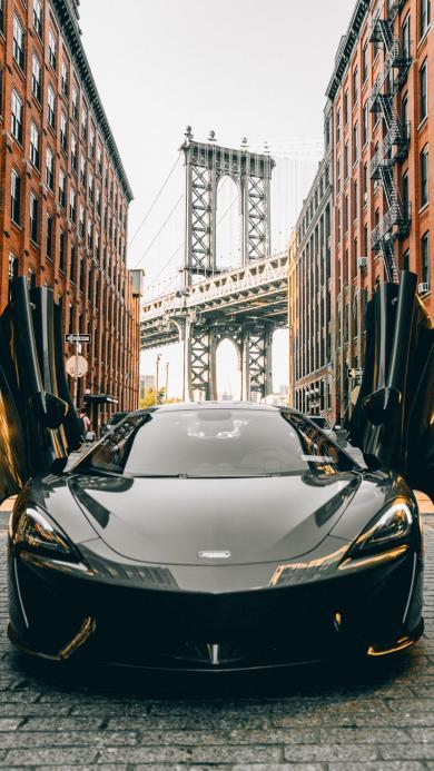 跑车 城市 曼哈顿大桥