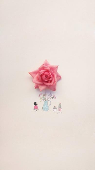 唯美 插画 玫瑰