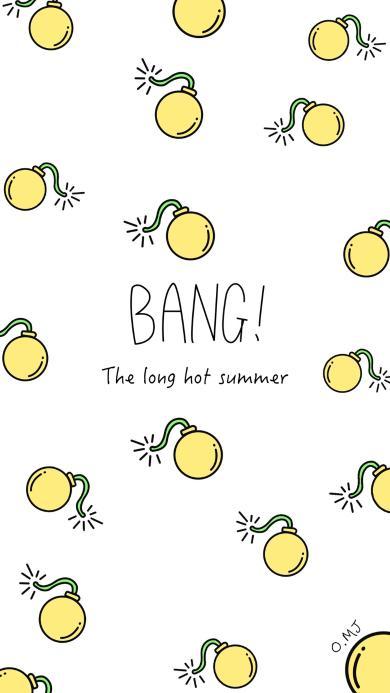 图案 背景 夏天 BANG