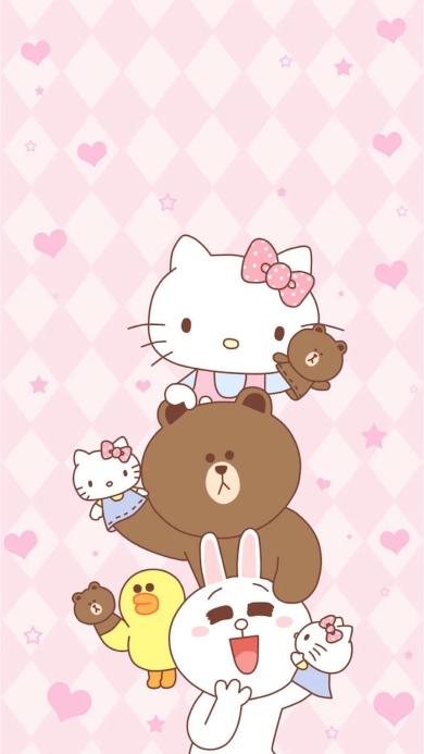 line 可妮兔 布朗熊 Hello Kitty