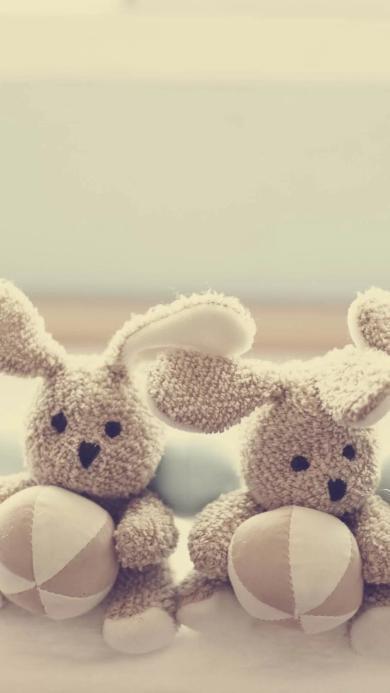 兔子 布娃娃 温馨