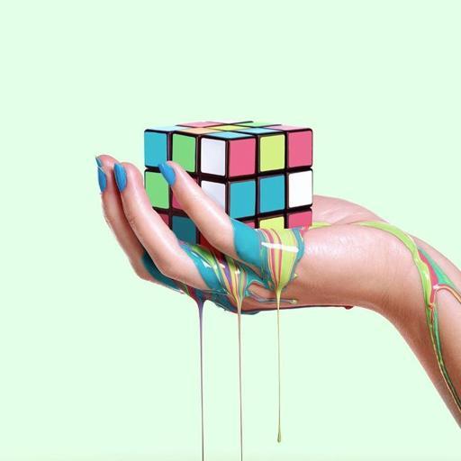 融化的彩色魔方