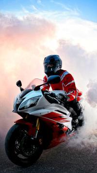 摩托车 帅气 烟雾