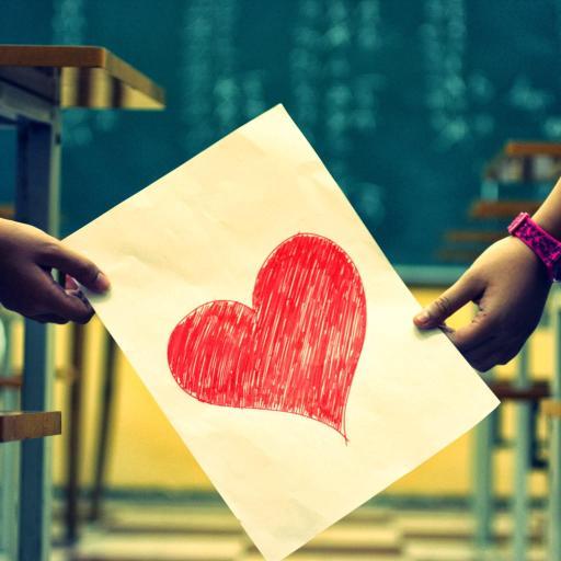 纸上爱心 情侣 爱情