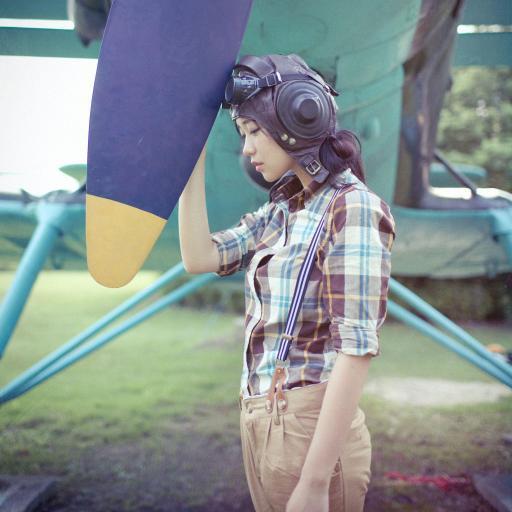 飞机 女生 飞行员