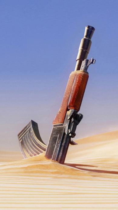 AK47 沙漠 军事 枪