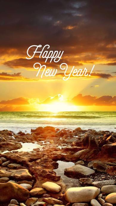 新年快乐 大海 happy new year