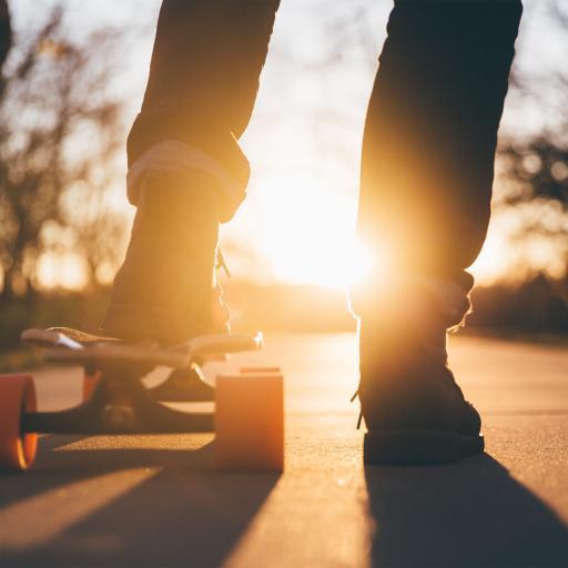 运动 滑板 光 太阳