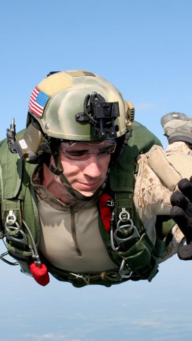 降落伞 跳伞 跳跃 培训 军事