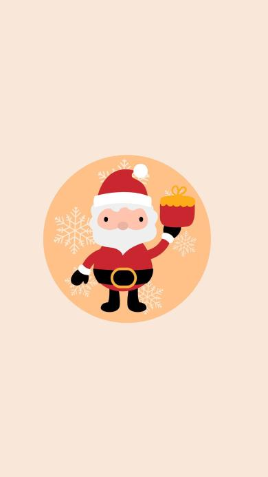 merry christmas 圣诞 老人 雪花 礼物