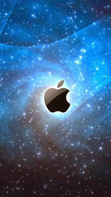 苹果logo 宇宙 发光