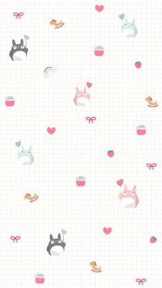 龙猫 平铺 动漫