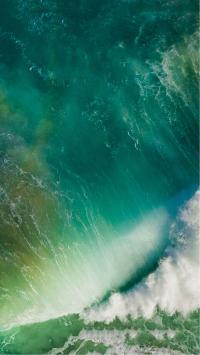 苹果IOS10官方内置壁纸 海水 绿色