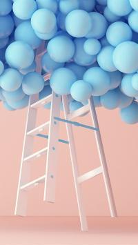 iphone7内置壁纸 气球 梯子