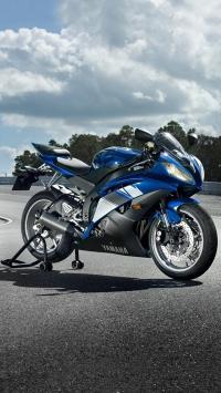 雅马哈 YAMAHA 蓝色 摩托车
