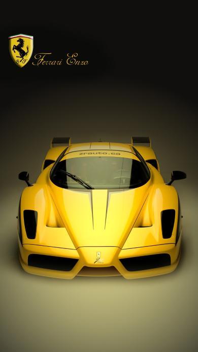 法拉利 黄色 跑车