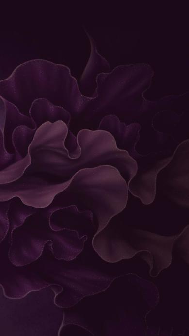 暗纹 花边 紫 流动