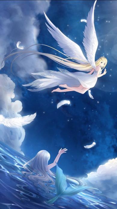天使 美人鱼 深海少女