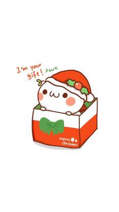 情侣 圣诞 merry christmas 圣诞帽 盒子 我是你的礼物