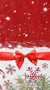 圣诞 merry christmas 红色 雪花 下雪 蝴蝶结