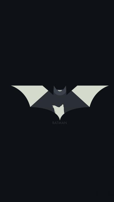 蝙蝠侠 标志 黑色 纯色 Batman