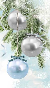 节日 圣诞节 礼物 白色 圆球 珠子