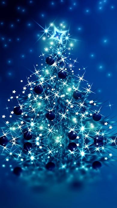 圣诞树 礼物 圣诞节 灯光 闪
